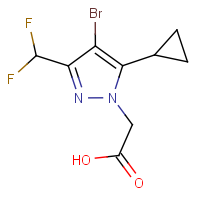 [4-Bromo-5-cyclopropyl-3-(difluoromethyl)-1H-pyrazol-1-yl]acetic acid