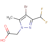 [4-Bromo-3-(difluoromethyl)-5-methyl-1H-pyrazol-1-yl]acetic acid