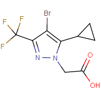 [4-Bromo-5-cyclopropyl-3-(trifluoromethyl)-1H-pyrazol-1-yl]acetic acid