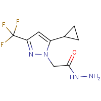 2-[5-Cyclopropyl-3-(trifluoromethyl)-1H-pyrazol-1-yl]acetohydrazide