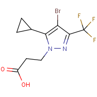 3-[4-Bromo-5-cyclopropyl-3-(trifluoromethyl)-1H-pyrazol-1-yl]propanoic acid