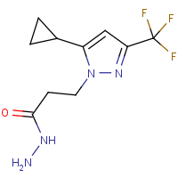 3-[5-Cyclopropyl-3-(trifluoromethyl)-1H-pyrazol-1-yl]propanehydrazide