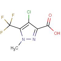 4-Chloro-1-methyl-5-(trifluoromethyl)-1H-pyrazole-3-carboxylic acid