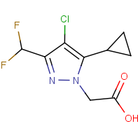 [4-Chloro-5-cyclopropyl-3-(difluoromethyl)-1H-pyrazol-1-yl]acetic acid