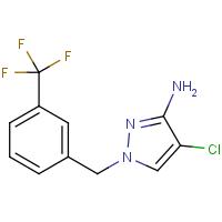 4-Chloro-1-[3-(trifluoromethyl)benzyl]-1H-pyrazol-3-amine