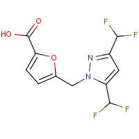 5-{[3,5-Bis(difluoromethyl)-1H-pyrazol-1-yl]methyl}furan-2-carboxylic acid