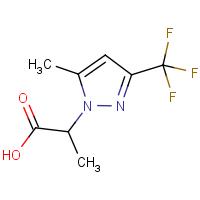 2-[5-Methyl-3-(trifluoromethyl)-1H-pyrazol-1-yl]propanoic acid