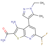 3-Amino-6-(difluoromethyl)-4-(1-ethyl-5-methyl-1H-pyrazol-4-yl)thieno[2,3-b]pyridine-2-carboxamide