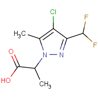 2-[4-Chloro-3-(difluoromethyl)-5-methyl-1H-pyrazol-1-yl]propanoic acid