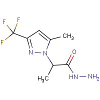 2-[5-Methyl-3-(trifluoromethyl)-1H-pyrazol-1-yl]propanehydrazide