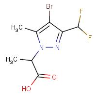 2-[4-Bromo-3-(difluoromethyl)-5-methyl-1H-pyrazol-1-yl]propanoic acid