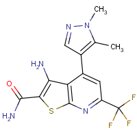 3-Amino-4-(1,5-dimethyl-1H-pyrazol-4-yl)-6-(trifluoromethyl)thieno[2,3-b]pyridine-2-carboxamide