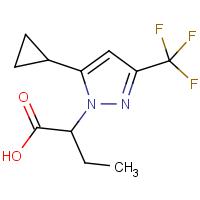 2-[5-Cyclopropyl-3-(trifluoromethyl)-1H-pyrazol-1-yl]butanoic acid