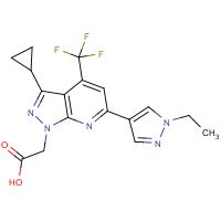 [3-Cyclopropyl-6-(1-ethyl-1H-pyrazol-4-yl)-4-(trifluoromethyl)-1H-pyrazolo[3,4-b]pyridin-1-yl]acetic acid
