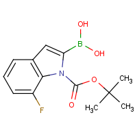 7-Fluoro-1H-indole-2-boronic acid, N-BOC protected