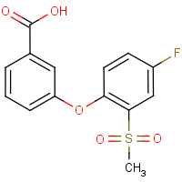 3-[4-Fluoro-2-(methylsulphonyl)phenoxy]benzoic acid