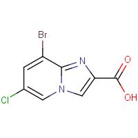 8-Bromo-6-chloroimidazo[1,2-a]pyridine-2-carboxylic acid