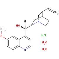 (R)(6-methoxy-4-quinolyl)(5-vinyl-1-azabicyclo[2.2.2]oct-2-yl)methanol hydrochloride dihydrate