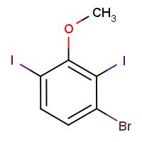 3-Bromo-2,6-diiodoanisole