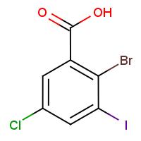 2-Bromo-5-chloro-3-iodobenzoic acid