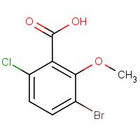 3-Bromo-6-chloro-2-methoxybenzoic acid