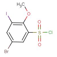 5-Bromo-3-iodo-2-methoxybenzenesulphonyl chloride