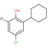 2-Bromo-4-chloro-6-cyclohexylphenol