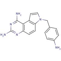 7-(4-Aminobenzyl)-7H-pyrrolo[3,2-f]quinazoline-1,3-diamine