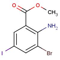 Methyl 2-amino-3-bromo-5-iodobenzoate