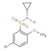 5-Bromo-N-cyclopropyl-2-methoxybenzenesulphonamide