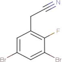 3,5-Dibromo-2-fluorophenylacetonitrile