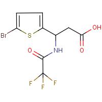 3-(5-Bromothien-2-yl)-3-[(trifluoroacetyl)amino]propionic acid