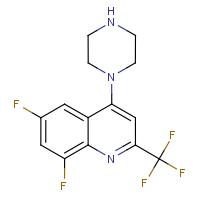 1-[6,8-Difluoro-2-(trifluoromethyl)quinol-4-yl]piperazine