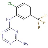2-Amino-4-[2-chloro-5-(trifluoromethyl)phenylamino]-1,3,5-triazine