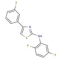 2-(2,5-Difluorophenyl)amino-4-(3-fluorophenyl)thiazole
