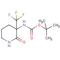 tert-Butyl 2-oxo-3-(trifluoromethyl)piperidin-3-ylcarbamate