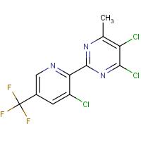 4,5-Dichloro-2-(3-chloro-5-(trifluoromethyl)pyridin-2-yl)-6-methylpyrimidine