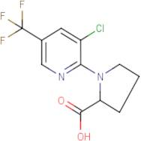 1-[3-Chloro-5-(trifluoromethyl)pyridin-2-yl]pyrrolidine-2-carboxylic acid