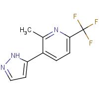 2-Methyl-3-(1H-pyrazol-5-yl)-6-(trifluoromethyl)pyridine