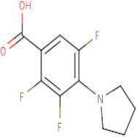 2,3,5-Trifluoro-4-pyrrolidin-1-ylbenzoic acid