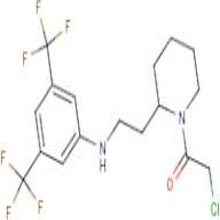 2-chloro-1-(2-{2-[3,5-di(trifluoromethyl)anilino]ethyl}piperidino)ethan-1-one