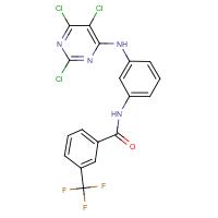 N1-{3-[(2,5,6-trichloropyrimidin-4-yl)amino]phenyl}-3-(trifluoromethyl)benzamide