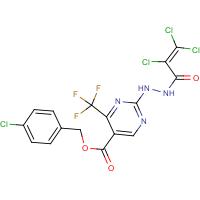 4-chlorobenzyl 2-[2-(2,3,3-trichloroacryloyl)hydrazino]-4-(trifluoromethyl)pyrimidine-5-carboxylate