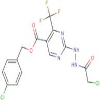 4-chlorobenzyl 2-[2-(2-chloroacetyl)hydrazino]-4-(trifluoromethyl)pyrimidine-5-carboxylate