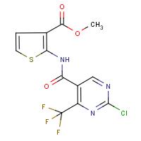 methyl 2-({[2-chloro-4-(trifluoromethyl)pyrimidin-5-yl]carbonyl}amino)thiophene-3-carboxylate