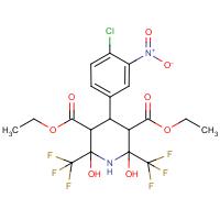 diethyl 4-(4-chloro-3-nitrophenyl)-2,6-dihydroxy-2,6-bis(trifluoromethyl)piperidine-3,5-dicarboxylate