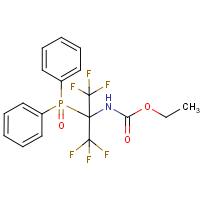 ethyl N-[1-(diphenylphosphoryl)-2,2,2-trifluoro-1-(trifluoromethyl)ethyl]carbamate