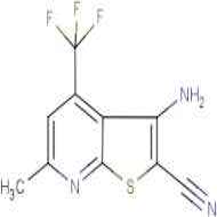 3-amino-6-methyl-4-(trifluoromethyl)thieno[2,3-b]pyridine-2-carbonitrile