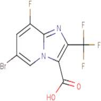 6-Bromo-8-fluoro-2-(trifluoromethyl)imidazo[1,2-a]pyridine-3-carboxylic acid