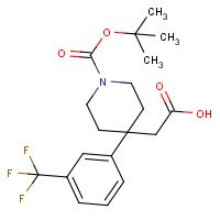 2-{1-(tert-Butoxycarbonyl)-4-[3-(trifluoromethyl)phenyl]piperidin-4-yl}acetic acid